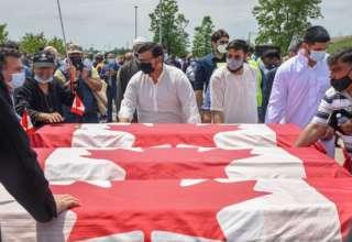 تشييع أفراد أسرة كندية مسلمة دهسهم مهاجم بشاحنة